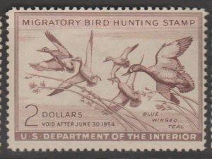 U.S. Scott #RW20 Duck Stamp - Mint NH Single - IND