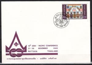 Thailand, 21/NOV/86 issue. Asia-Pacific Scout Conference Souvenir cover.