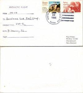 1985 SOUTH POLE + FLIGHT CACHET, 1985, Polar