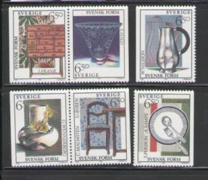 Sweden Sc 2076-81 1994 design stamp set mint NH