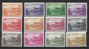 Norfolk Island 1-12 Ball Bay set Unused Hinged