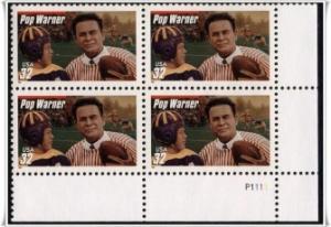 US Stamp #3149 MNH - Pop Warner Plate Block of 4