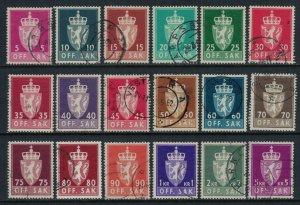Norway #O65-82  CV $28.45