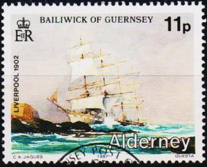 Alderney. 1987 11p S.G.A32 fine Used