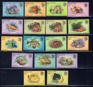 Belize 699-714 NH 1984 Marine Life