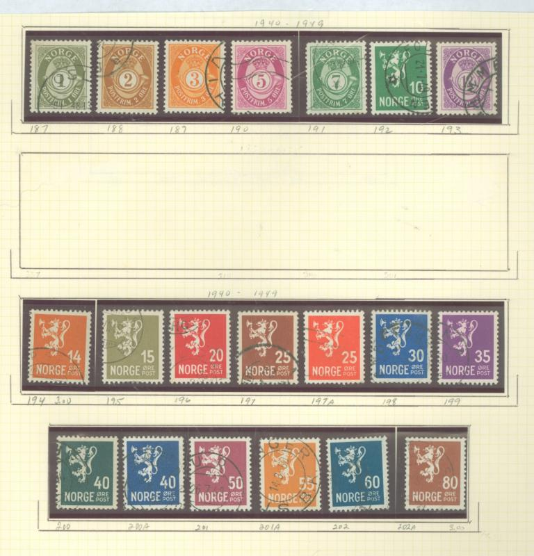 Norway 182-202a Used VF LH