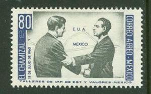 Mexico # C282  Chamizal Treaty (Pres. JFK) (1)   Mint NH