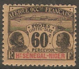 Upper Senegal & Niger J6 Cer TT6 MLH F/VF 1906 SCV $22.50