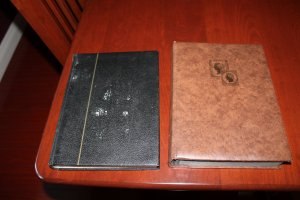 Two (2) Empty Stock Books with Clear Faced Double Sided Pages with Interleaves