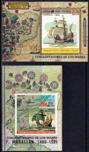 Equatorial Guinea 1975 Mi#190/192 COLUMBUS/MAGELLAN 2 S/S Perf+Imperf.MNH