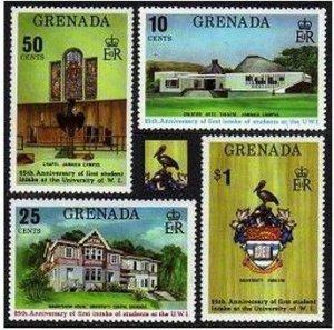 Grenada 542-546,MNH. Michel 569-572,Bl.73. University of West Indies,25,1974.