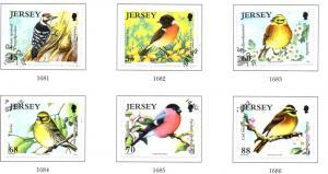 Jersey Sc 1609-4 2012 Threatened Birds stamp set used