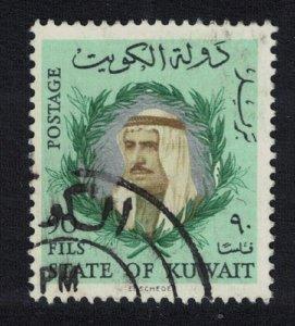 Kuwait Sheikh Sabah 90 Fils Key Value 1966 Canc SC#309 SG#304