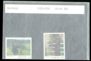 NORWAY Sc#807-808 MINT NEVER HINGED Complete Set