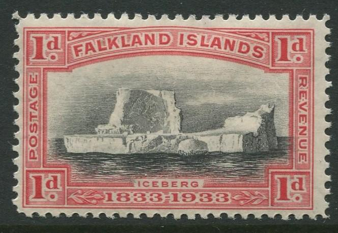 Falkland Is.- Scott 66 - KGV Definitive Issue -1933 - MH - Single 1p Stamp