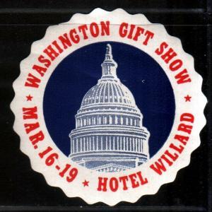 WASHINGTON GIFT SHOW HOTEL WILLARD