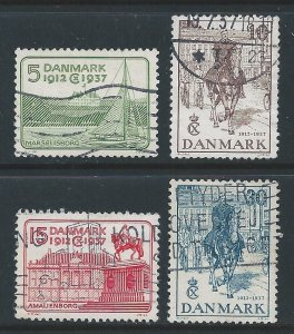 Denmark #258-61 MH King Christian X Accession to Throne A...