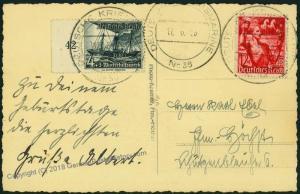 German Navy Spanish Civil War Iltis 3rd Torpedoboat Flotilla Feldpost Cove 54389