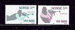 Norway 873-74 MNH 1986 Biathlon