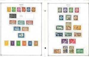 Israel 1948-1999 M & U Hinged on Scott International Pages