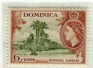 DOMINICA; 1954 early QEII issue fine Mint hinged 6c. value