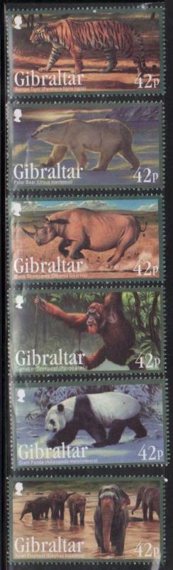Gibraltar MNH 1284-9 Endangered Animals 2011