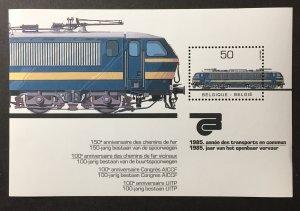 Belgium 1985 #1198 S/S, MNH, CV $4