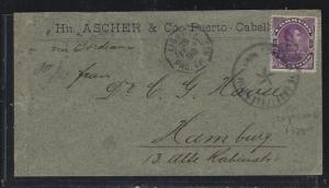 VENEZUELA   (PP2604B)  1898  25C COVER FR LIGNE TO GERMANY