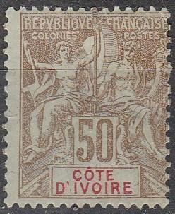 Ivory Coast #15  Unused CV $37.50 (A16797)