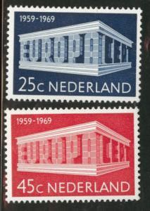 Netherlands Scott 475-476 MH* 1969 Europa set