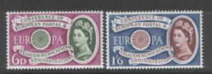 Great Britain 1960 Europa. (2) Scott #377-8