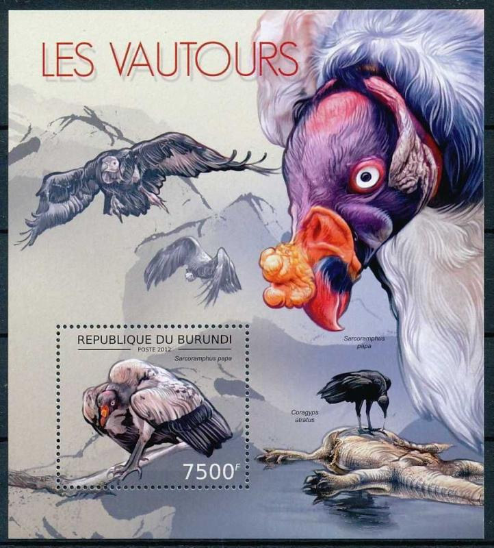 Burundi MNH S/S Vultures Birds 2012