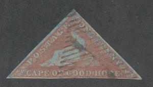 CAPE GOOD HOPE 1853 TRIANGLE 1D BLUED PAPER