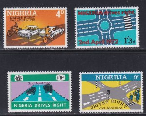 Nigeria # 280-283, Conversion to Right Hand Driving, NH, 1/2 Cat.