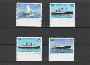 Tristan da Cunha MNH 255-8 Ships 1979