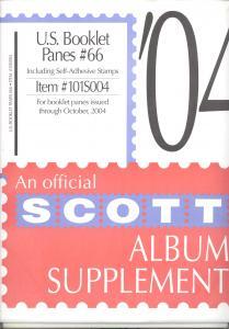 U. S. Booklet Panes Supplement # 66