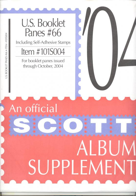 U. S. Booklet Panes Supplement # 66