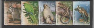 NORFOLK ISLANDS 2009 SPECIES AT RISK      MINT  VF NH  O.G  (NOR1) S/5