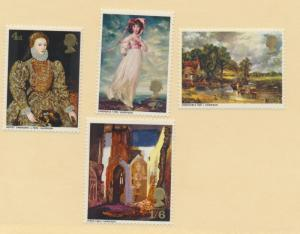 Great Britain Stamps Scott #568 To 571, Mint Never Hinged MNH, Paintings Issu...
