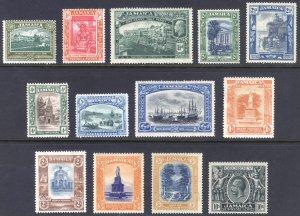 Jamaica 1921 1/2d-10s GV Pict. Wmk Script Scott 88-100 SG 94-106 MLH Cat $166