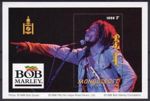 Mongolia 1998 Sc#2333 BOB MARLEY-MUSIC Souvenir Sheet (1) MNH