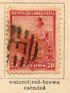 Argentina 1899 Early Issue Fine Used 20c. NW-11762
