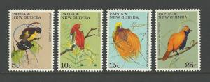 BIRDS - PAPUA NEW GUINEA #301-304  MNH