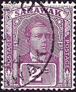 SARAWAK 1923 2 Cents Purple SG63 Fine Used