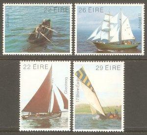 IRELAND Sc# 529 - 532 MNH FVF Set4 Boats Yachts Sailboat Ship
