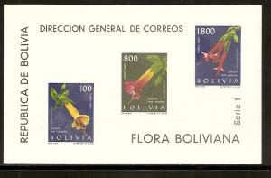 Bolivia C239a 1962 Flower s.s. NH