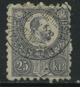 Hungary 1871 25 kr lilac engraved used