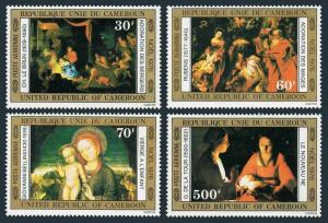 Cameroun C235-C238,MNH.Michel 828-831. Christmas 1976.Bellini,Le Brun,Rubens,