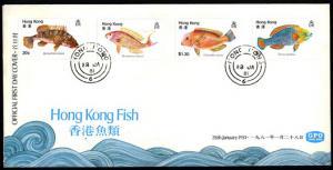 HONG KONG – 1981 Hong Kong Fish FDC