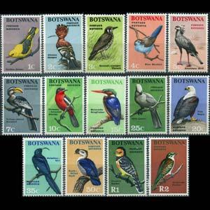 BOTSWANA 1967 - Scott# 19-32 Birds Set of 14 NH